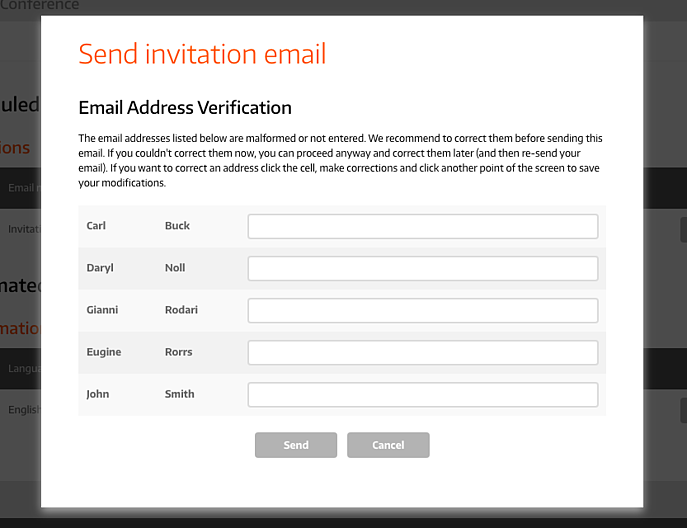 Guest with Missing Email Address