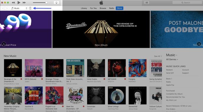 Open iTunes 2