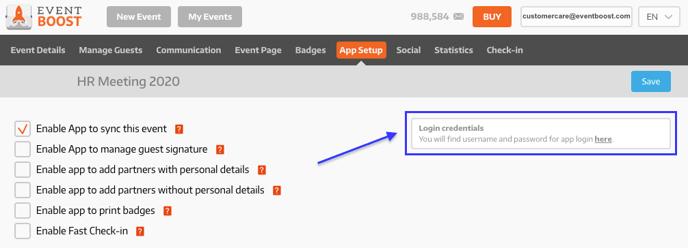 Retrieve App Credentials
